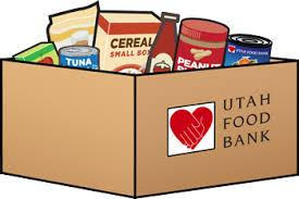Box of Food labeled with Utah Food Bank